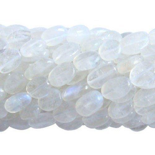30+ Weiß Regenbogen Mondstein ca. 5 x 7mm-7 x 9mm Handgefertigt Oval Perlen – (DW1685) – Charming Beads